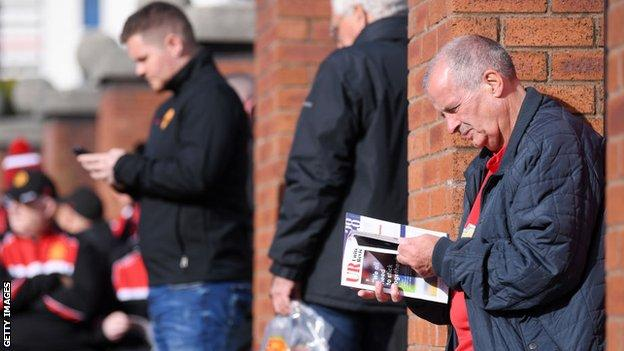 Fans outside Old Trafford