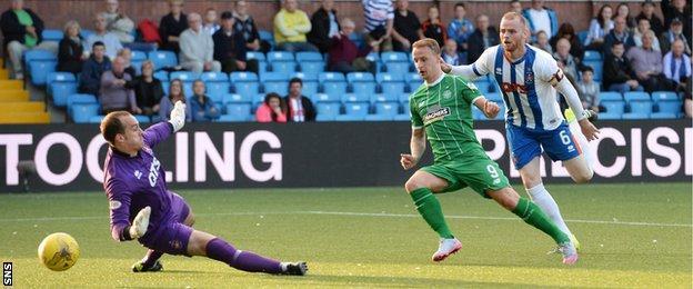 Leigh Griffiths scores for Celtic against Kilmarnock