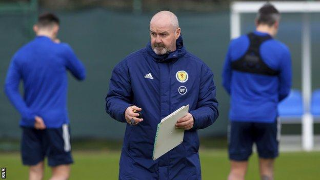 "Scotland head coach Steve Clarke still has ""one or two"" selection conundrums for the Belgrade showdown"