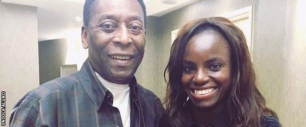 Eniola Aluko and Pele