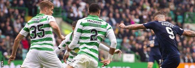 Eamonn Brophy silenced Celtic Park with a first-half opener