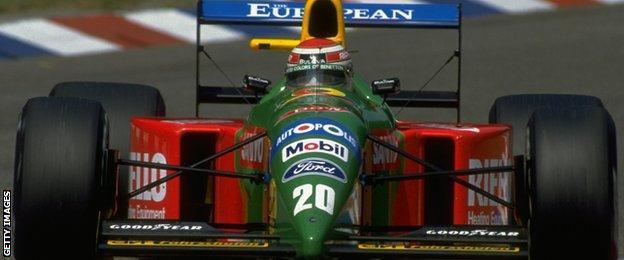 Nelson Piquet's Benetton in 1990