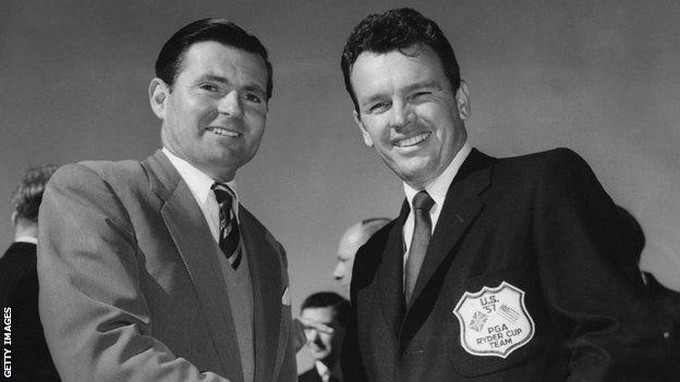 Dai Rees and Jackie Burke at the 1957 Ryder Cup