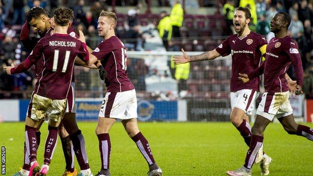 Hearts struck late to salvage a point at Tynecastle