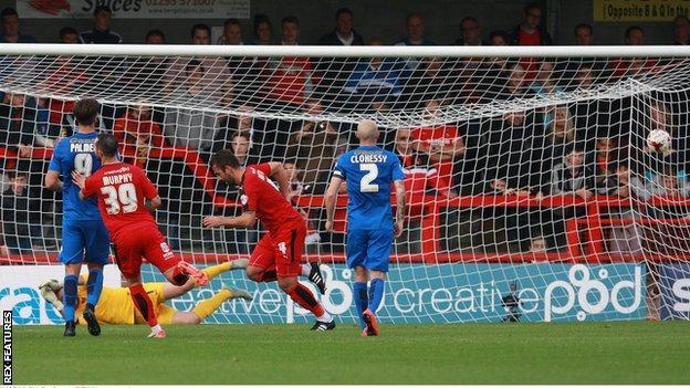 Simon Walton scored Crawley's third