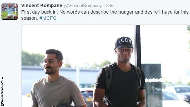 Vincent Kompany tweet