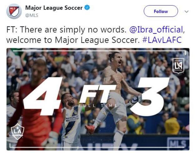 MLS tweet