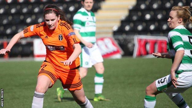 Glasgow City's Lauren McMurchie (left)