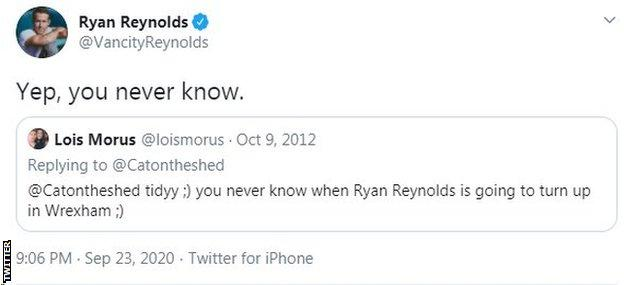 Ryan Reynolds tweet
