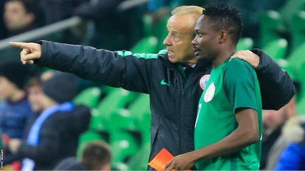 Nigeria coach Gernot Rohr clarifies Ahmed Musa is non-playing captain - BBC  Sport
