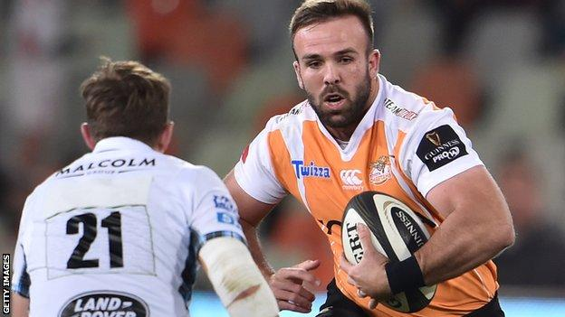 Jacques du Toit in action for Cheetahs
