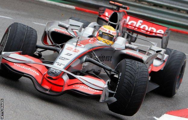 Lewis Hamilton at the 2008 Monaco Grand Prix