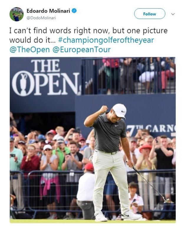 Edoardo Molinari tweets congratulations to his brother