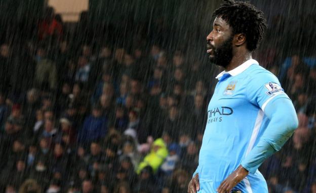 Man City striker Wilfried Bony