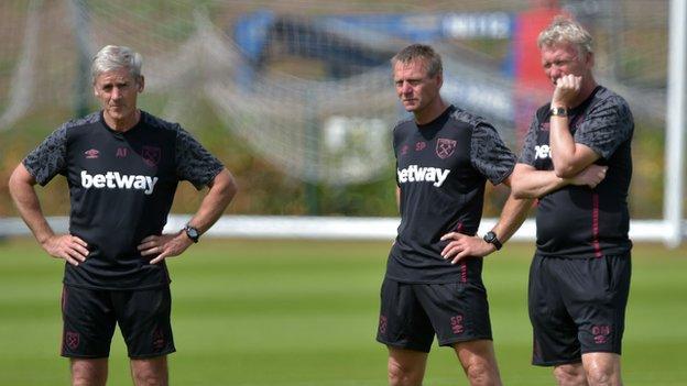Alan Irvine, David Moyes and Stuart Pearce
