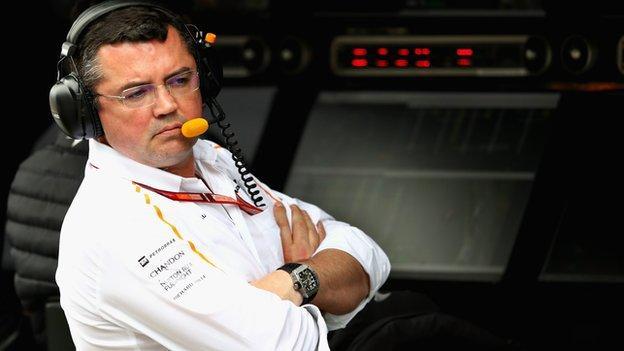 McLaren Racing Director Eric Boullier