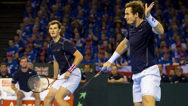 Jamie and Andy Murray have Davis Cup experience as doubles partners