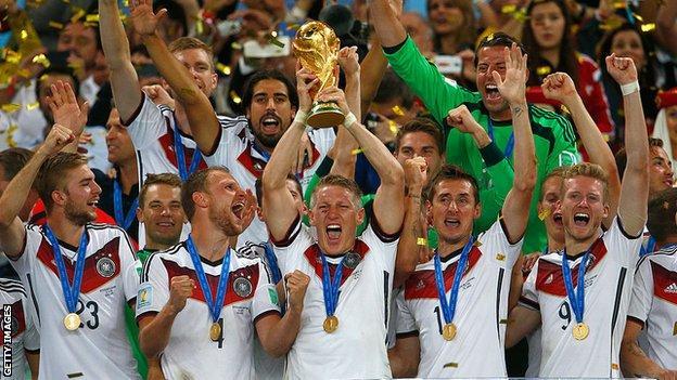 Germany celebrate World Cup