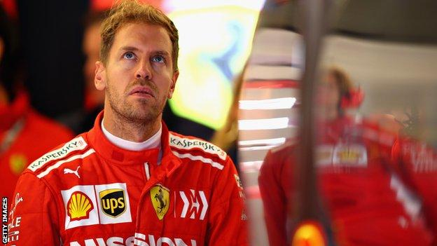 Sebastian Vettel at the US Grand Prix