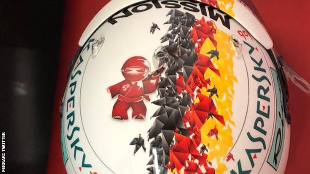 Sebastian Vettel race helmet