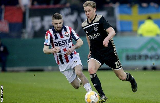 Frenkie de Jong is Ajax's danger man according to Crowley