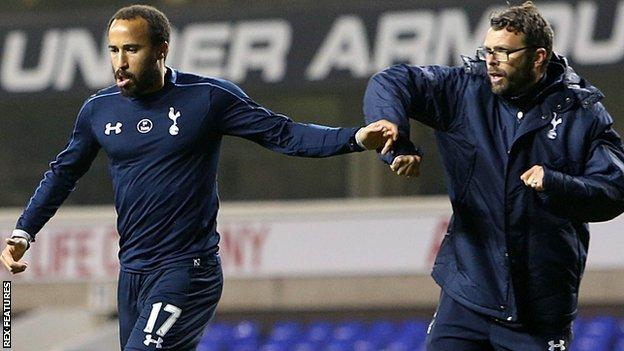 Andros Townsend clashes with Nathan Gardiner