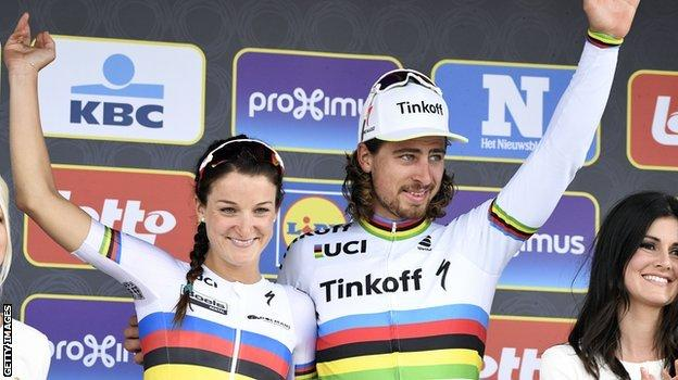 Lizzie Armitstead and Peter Sagan