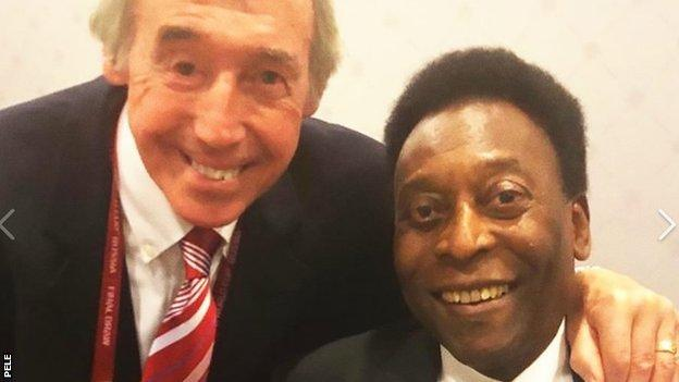 Pele posted a photo of Banks on social media