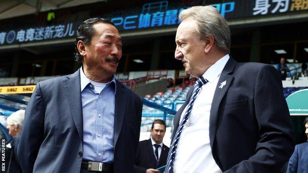 Cardiff owner Vincent Tan (left) appointed Neil Warnock as manager two years ago