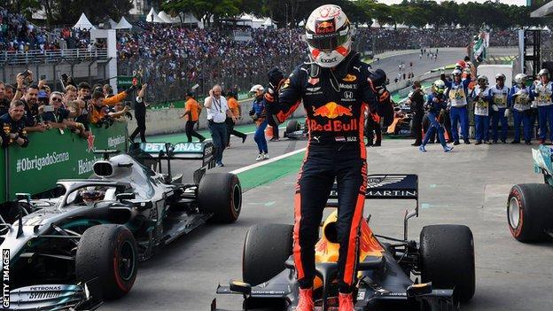 Max Verstappen wins the Brazilian GP