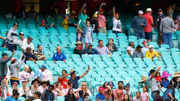 India fans at the Sydney Cricket Ground