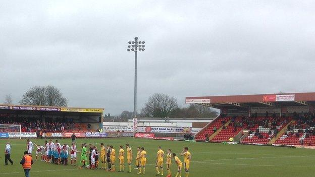 Aggborough has a current ground capacity of 6,444
