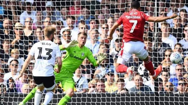 Lewis Grabban scores for Nottingham Forest against Fulham