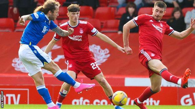 Stevie May came off the bench to secure a first league win for St Johnstone