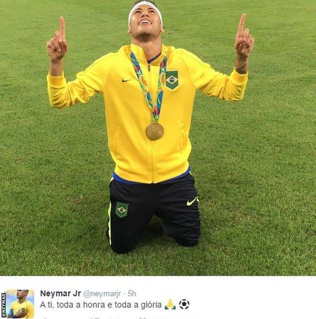 Neymar on twitter