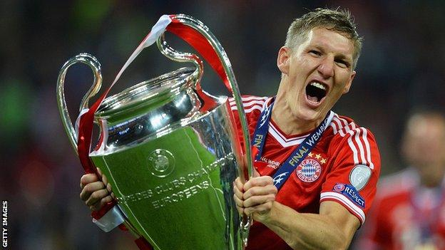 Bayern Munich midfielder Bastian Schweinsteiger