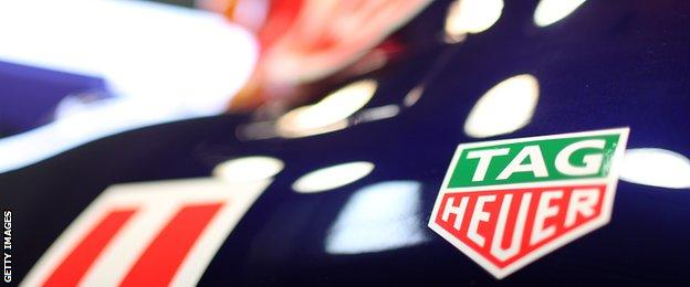 Tag Heuer label on Red Bull's latest car