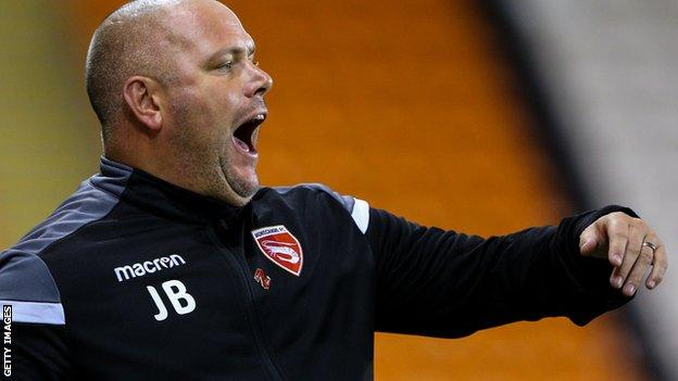 Jim Bentley shouts to his players