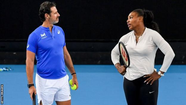 Patrick Mouratoglou (left) and Serena Williams