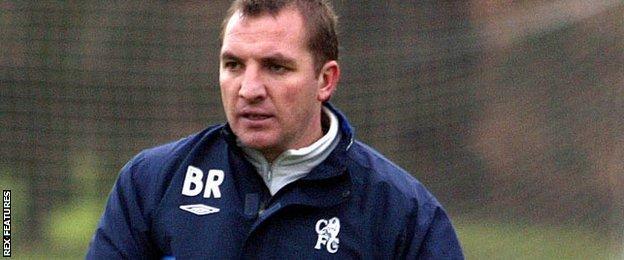 Brendan Rodgers at Chelsea in 2005