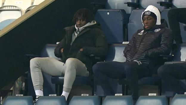 Eberechi Eze in the stands at Loftus Road