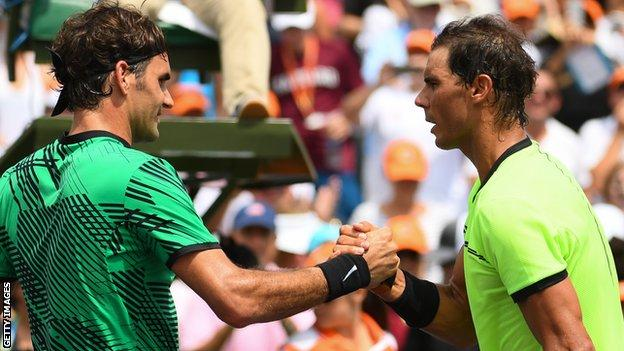 federer and Nadal shake hands