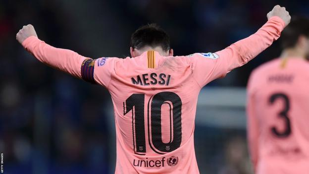 Espanyol 0-4 Barcelona: Lionel Messi scores twice as champion ease to victory