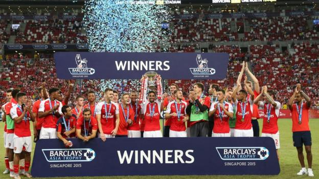 Arsenal won the Premier League Asia Trophy in Singapore in 2015