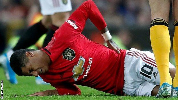 Manchester United Touch And Go Whether Marcus Rashford Will Play Again This Season Bbc Sport