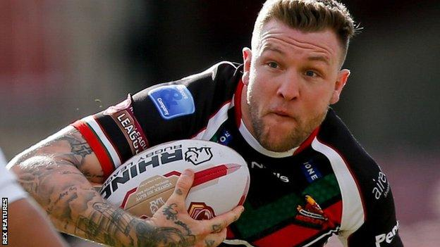 Former Keighley Cougars full-back Ritchie Hawkyard