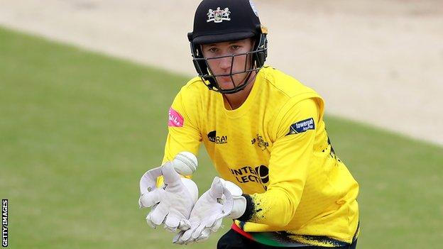 James Bracey in action for Gloucestershire