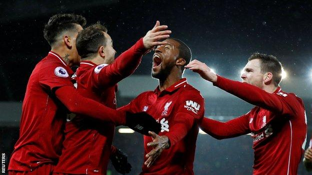 BPL ( 2016-2017) Report : Liverpool 3-1 Manchester United - Late Shaqiri double sees Liverpool beat Man Utd to go top
