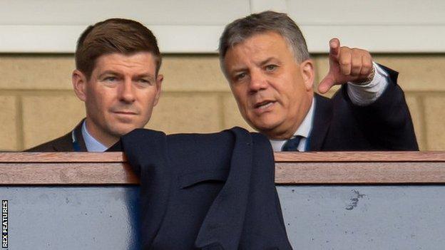 Mark Allen (right) with Steven Gerrard