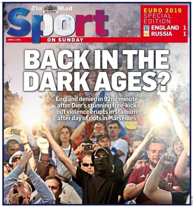 The Mail on Sunday describes the scenes on and off the pitch in Marseille